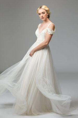 Boho Mode Brautkleid zum selber binden