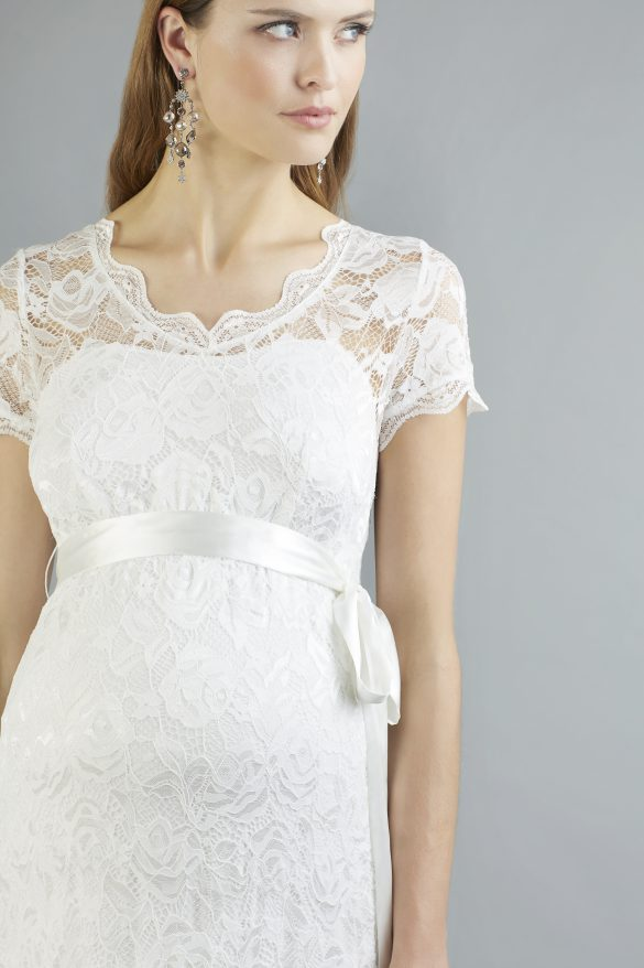 Umstandsbrautkleid Brautmode Umstand maternity Spitze mit Ärmeln Brautkleid Wolfenbuettel