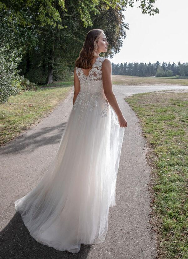 Brautkleid für dicke fließend V-Ausschnitt boho Kleid vintage Brautkleid Gifhorn