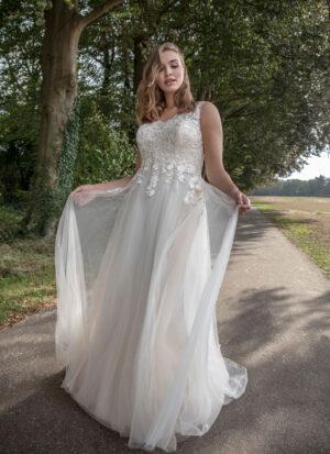 Brautkleid für dicke fließend V-Ausschnitt boho Kleid vintage Brautkleid Wolfsburg