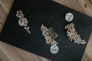 Brauthaarschmuck gold