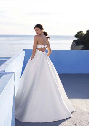 Hochzeitskleid a-linie satin mit schleife klassisches brautkleid Hochzeitsblume Brautkleid Wolfenbuettel