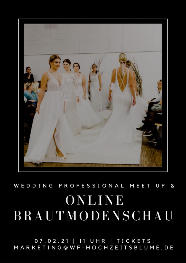 Online Modenschau Onlinemesse Wedding fair Hochzeitsprofis Dienstleister